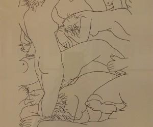 """Ilustración perteneciente a serie """"Cuerpos"""""""
