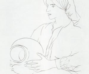 dulcinea-ideal-de-don-quijote-el-quijote-1963-litografia