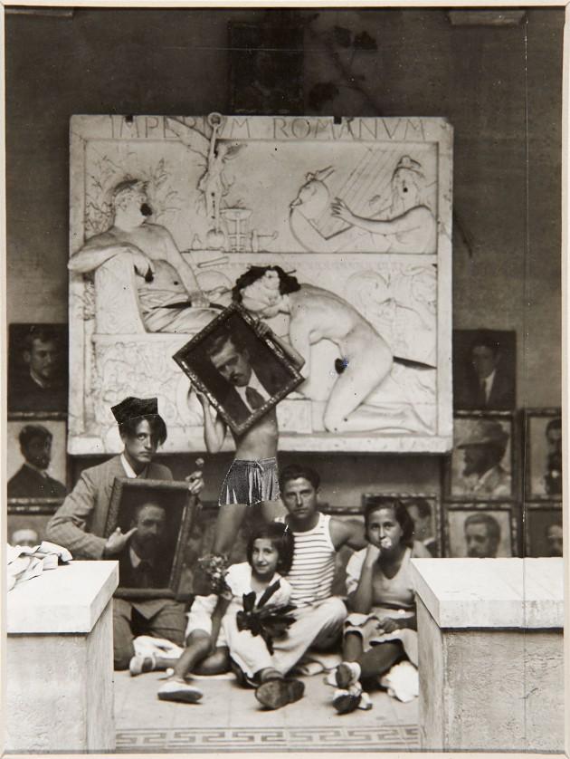 En la academia de Roma con E. Chicharro y los hijos de Valle-Inclán