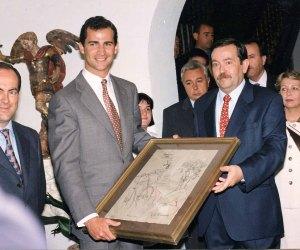 Visita del entonces Príncipe de Asturias, hoy Rey Felipe VI