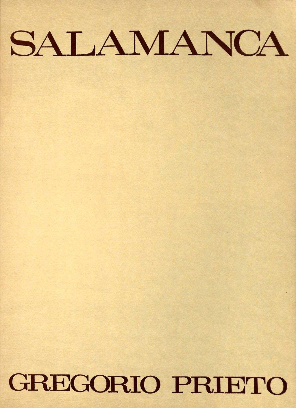 Portada del libro Salamanca dibujos de gregorio prieto
